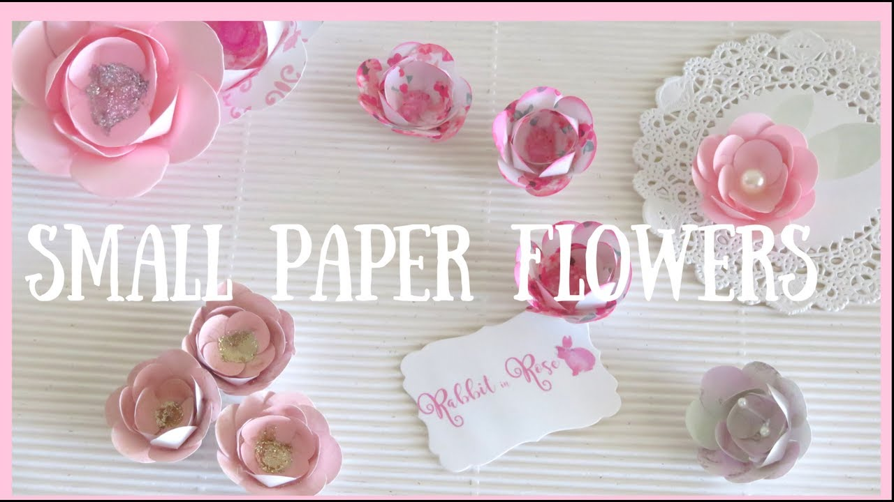 Small paper flowers diy embellishments youtube small paper flowers diy embellishments mightylinksfo
