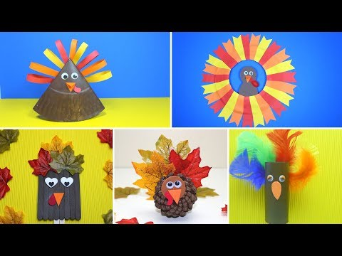 5 Easy Turkey Crafts For Kids | Thanksgiving Crafts For Kids