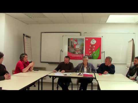Conférence de presse UD CGT de l'Allier sur le dossier  Environnement Recycling