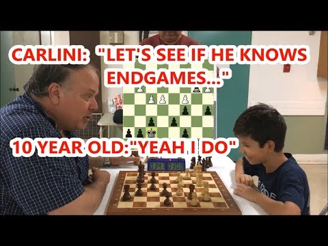 10 Year Old In Top 3.7% USCF (Under 21) vs. The Great Carlini!