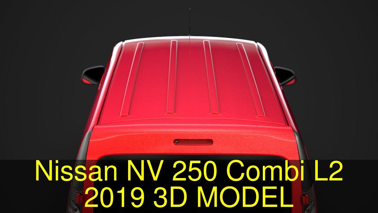 3D Model of Nissan NV 250 Combi L2 2019 Review