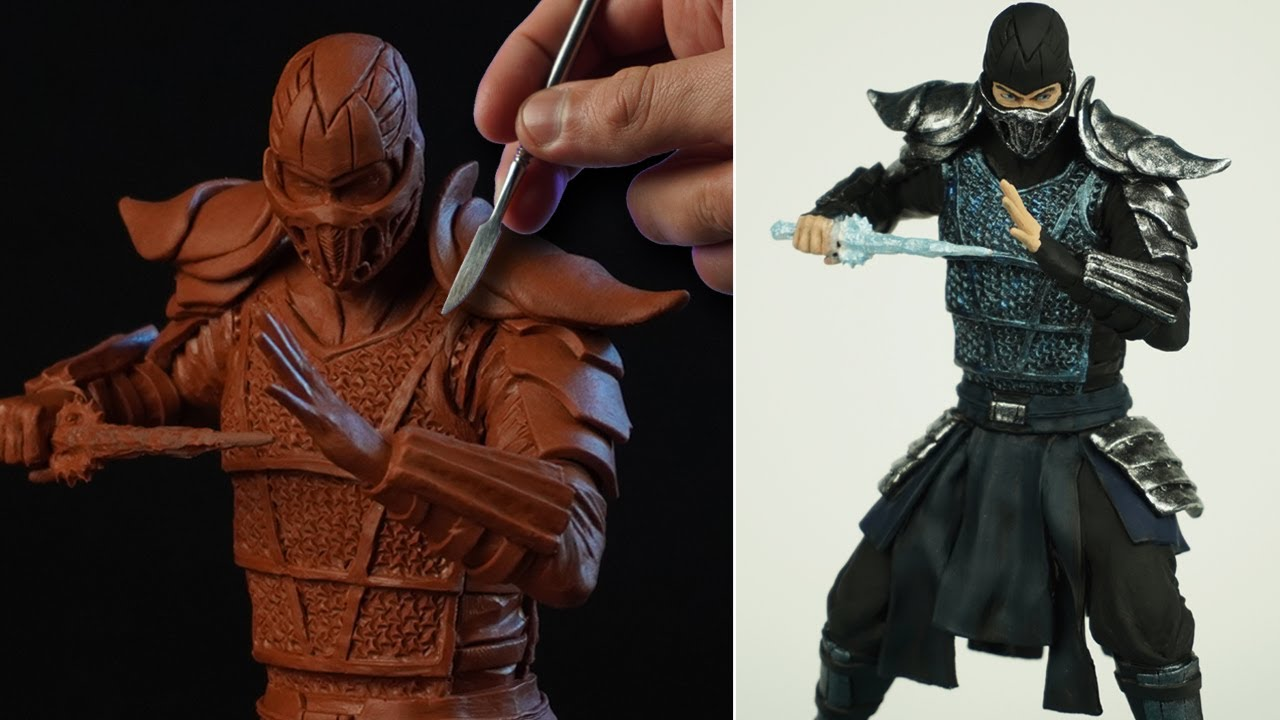 Sculpting SUB-ZERO | Mortal Kombat 2021