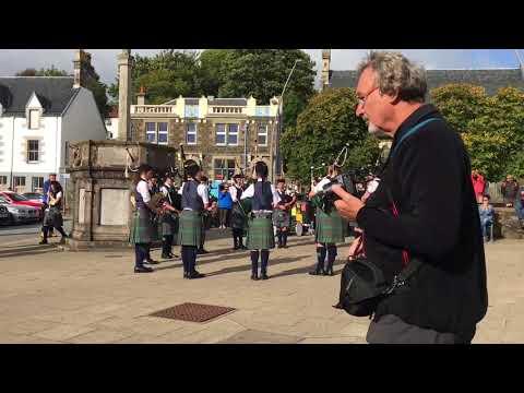 High School Pipe Band in Portree, Skye, Scotland