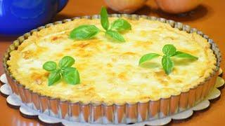 Французский пирог с луком и сыром