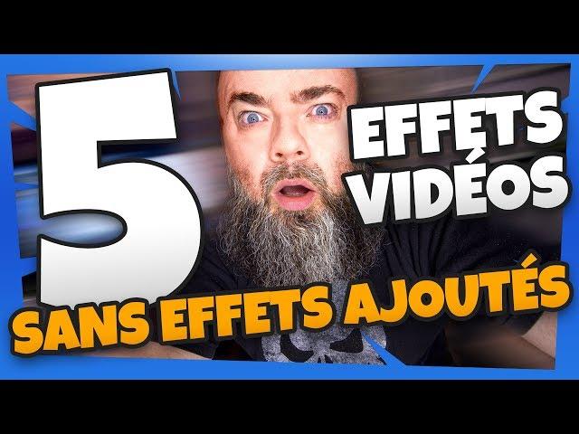 Effets de transition video sans effets ajoutés