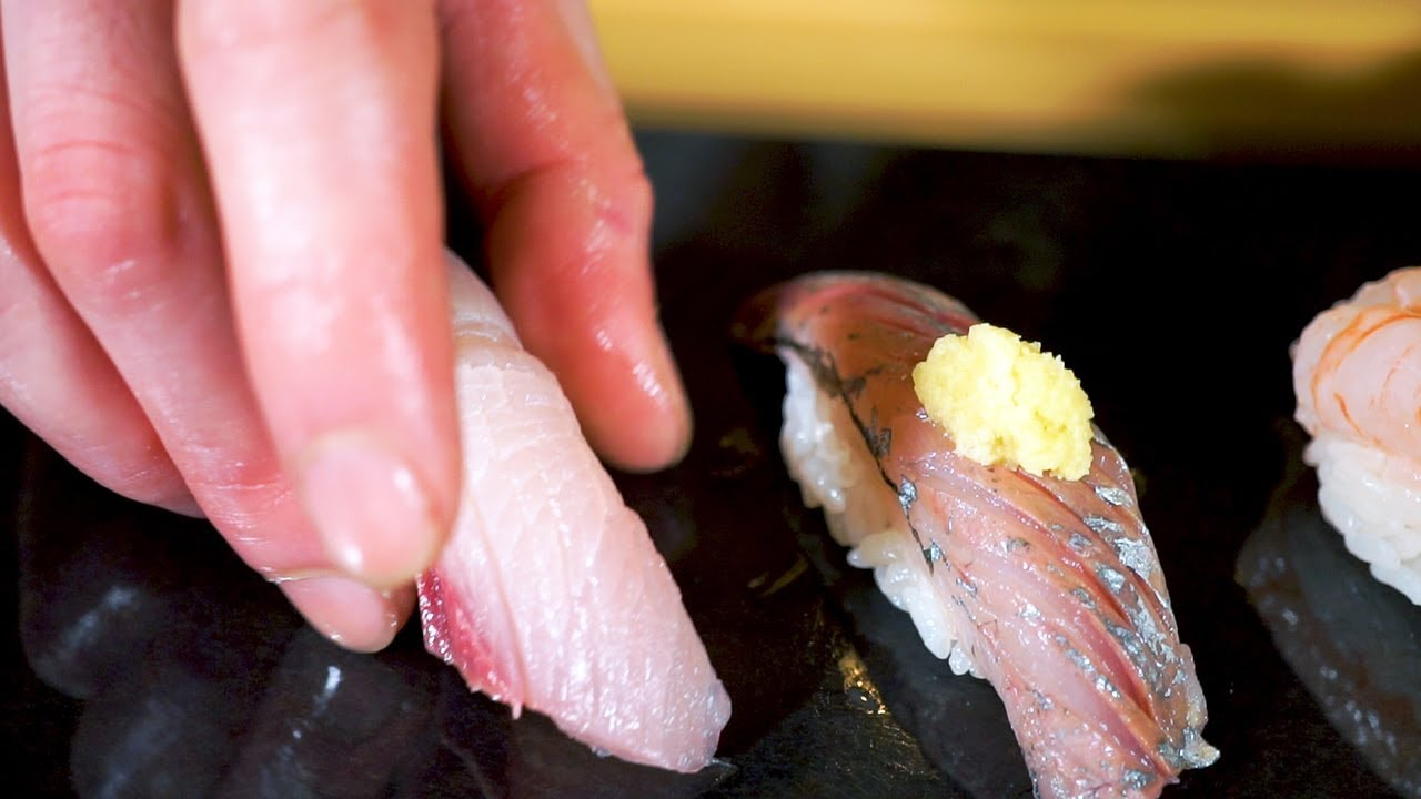 Enjoy stand-and-eat sushi from Sado