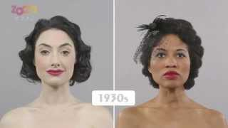 كيف تغيرت تسريحات الشعر والمكياج خلال 100 عام