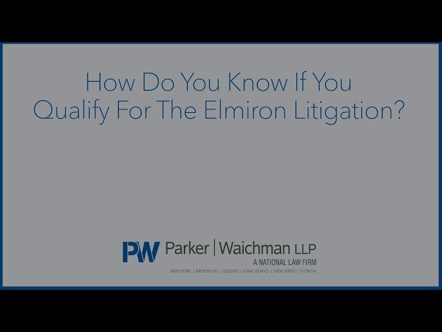 How Do You Know If You Qualify For The Elmiron Litigation?