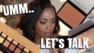 NEW ABH SOFT GLAM PALETTE AMREZY HIGHLIGHTER  POWDER BRONZER ON DARK SKIN  Andrea Renee