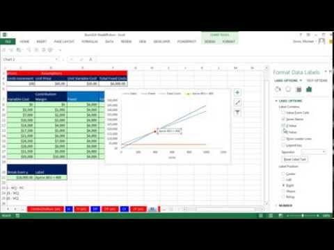 excel break even formula