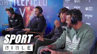 Courtney Lawes, Billy Vunipola and Anthony Watson team up on Battlefield V!