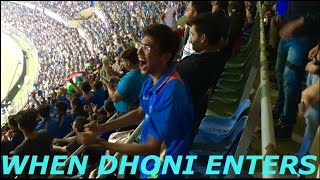 Crowd goes Crazy When MS Dhoni Comes out for Batting