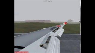 FS2004-JAL 747 flight from Darwin-Tokyo