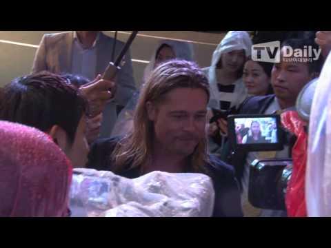 [tvdaily]  Movie 'World War Z' red carpet event ★Brad Pitt(William Bradley Pitt)★