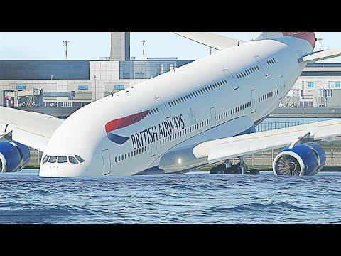 Самые Страшные Посадки Самолетов, Снятые на Камеру