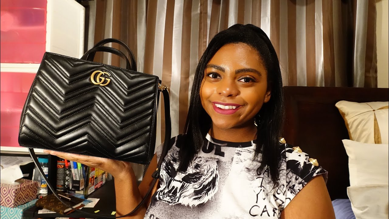 776613170512 What Fits In Gucci Marmont Small Top Handle Bag - YouTube