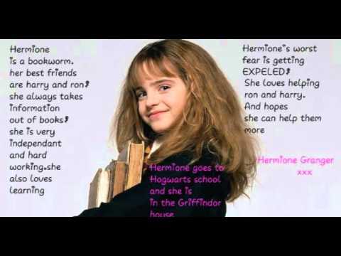 harry potter character description - YouTube