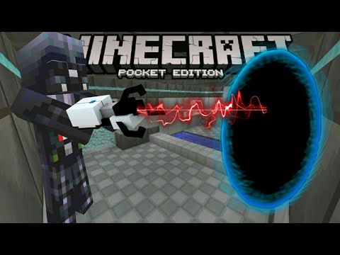 minecraft-pocket-edition-|-portal-and-gravity-gun!!-|-mod-showcase
