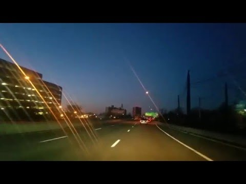 Driving on the highway by Camden,New Jersey