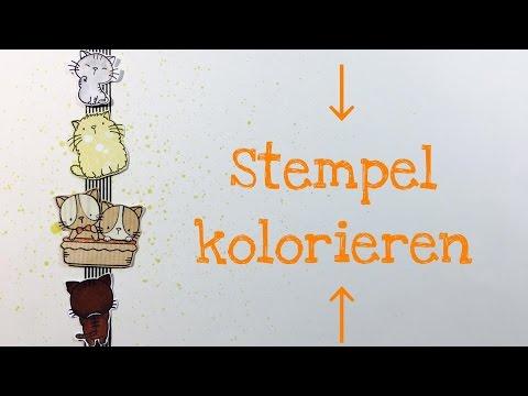 Tutorial: 3 Arten Stempel zu kolorieren