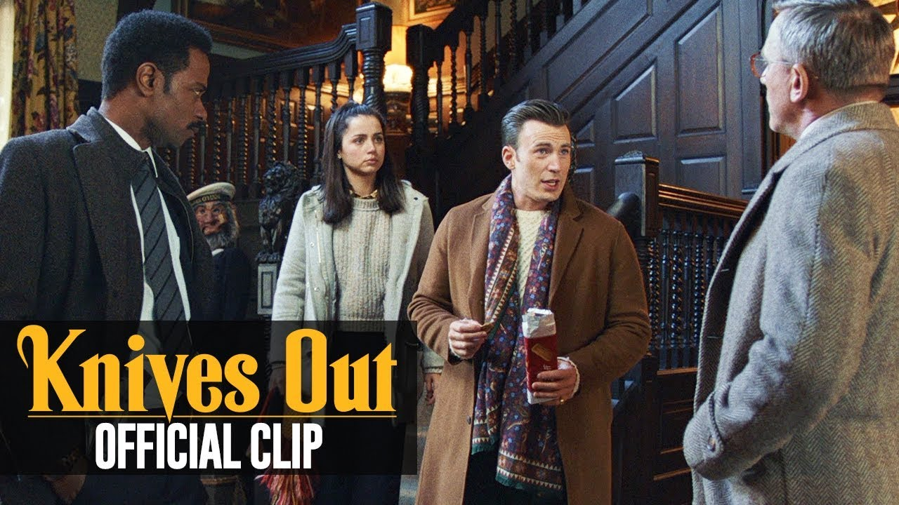 "Knives Out (2019 Movie) Official Clip ""Ransom Arrives"" – Chris Evans, Daniel Craig"