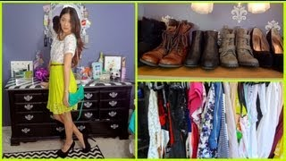 Closet Tour & Small Space Ideas! {spring 2013}