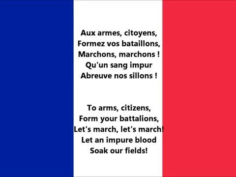 La Marseillaise - Anthem of France (lyrics)