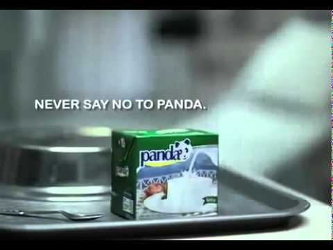 прикольная реклама молочных продуктов панда. (panda)