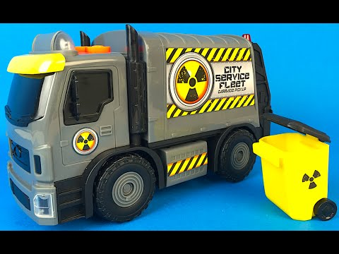 Thumbnail: ADVENTURE WHEELS MUNICIPAL VEHICLES GARBAGE TRUCK OR PICK UP TRASH CAN RECYCLING LIGHTS SOUNDS