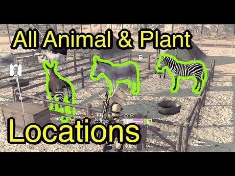 Metal Gear Survive: All Animal, Plant, Vegetable Locations - Food and Medicinal