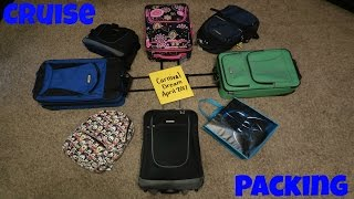 PACKING FOR A CRUISE - What we pack & how we pack