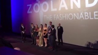 Christine Taylor makes epic fall TWICE at Zoolander 2 Premiere London In-Screen Introductions