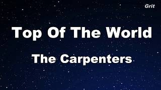 Top Of The World - The Carpenters  Karaoke【No Guide Melody】