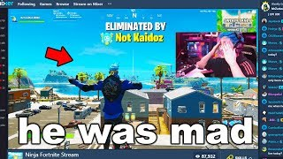 I Stream Sniped Ninja until he BANNED me on Fortnite...