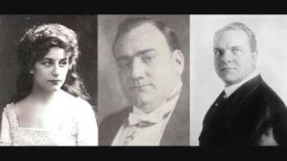 Faust final trio - Caruso-Farrar-Journet & McCormack-Melba-Sammarco (1910)