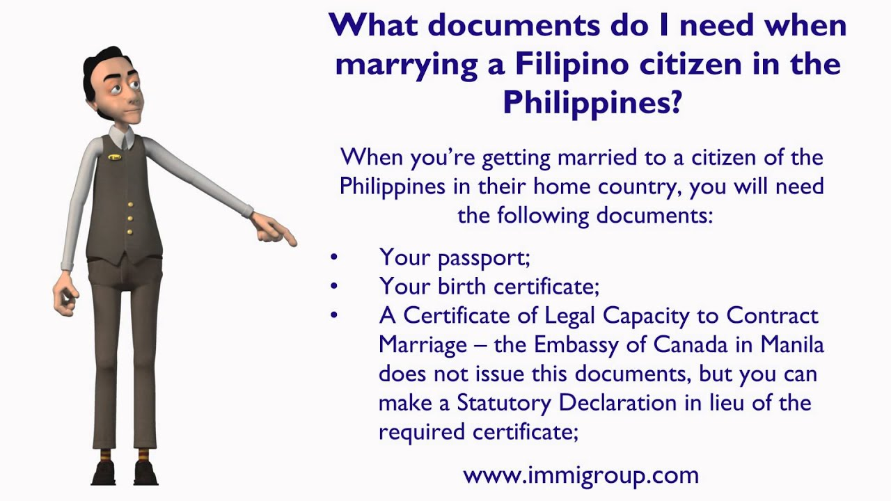 What Documents Do I Need When Marrying A Filipino Citizen In The