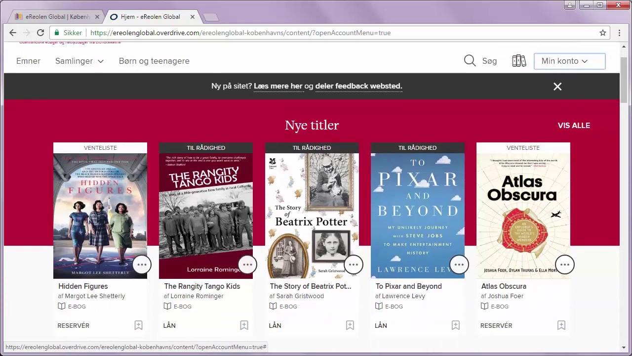 Ereolen Global Lån Engelske Bøger På Ereolen Global Youtube