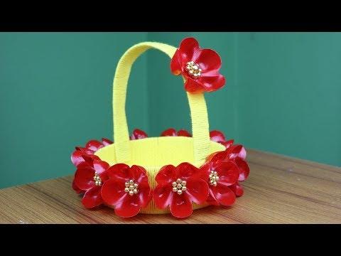 Empty Plastic Bottle Craft For Home Decor - Best reuse ideas - Best out of waste - DIY Woolen Design