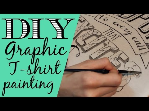 ✩ DIY Graphic T-shirt Painting Tutorial ~ 3 Shirts ✩