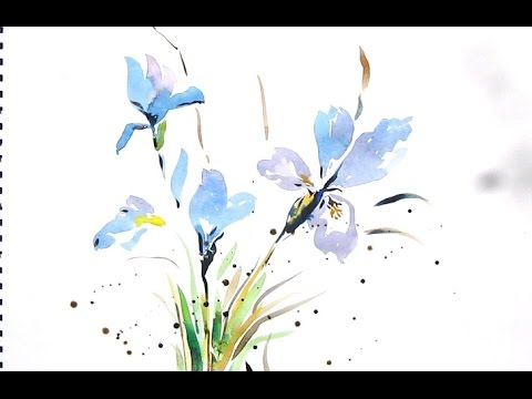Easy Flower Painting With Watercolor Watercolor Painting For