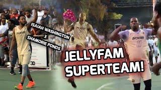 Isaiah JELLYFAM Washington Teams Up With Shamorie Ponds At Dyckman! NYC Superteam Had Crowd SHOOK 😤