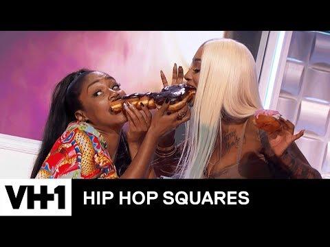 Tiffany Haddish & Black Ink Crew's Sky Share A Phallic Doughnut | Hip Hop Squares