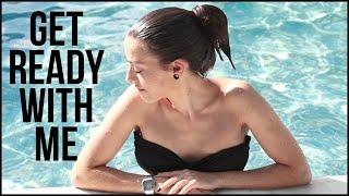 Arréglate conmigo para ir a la piscina | GRWM Maquillaje, peinado y outfit