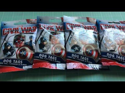 Captain America Civil War Dog Tag Blind Bag Toys Youtube
