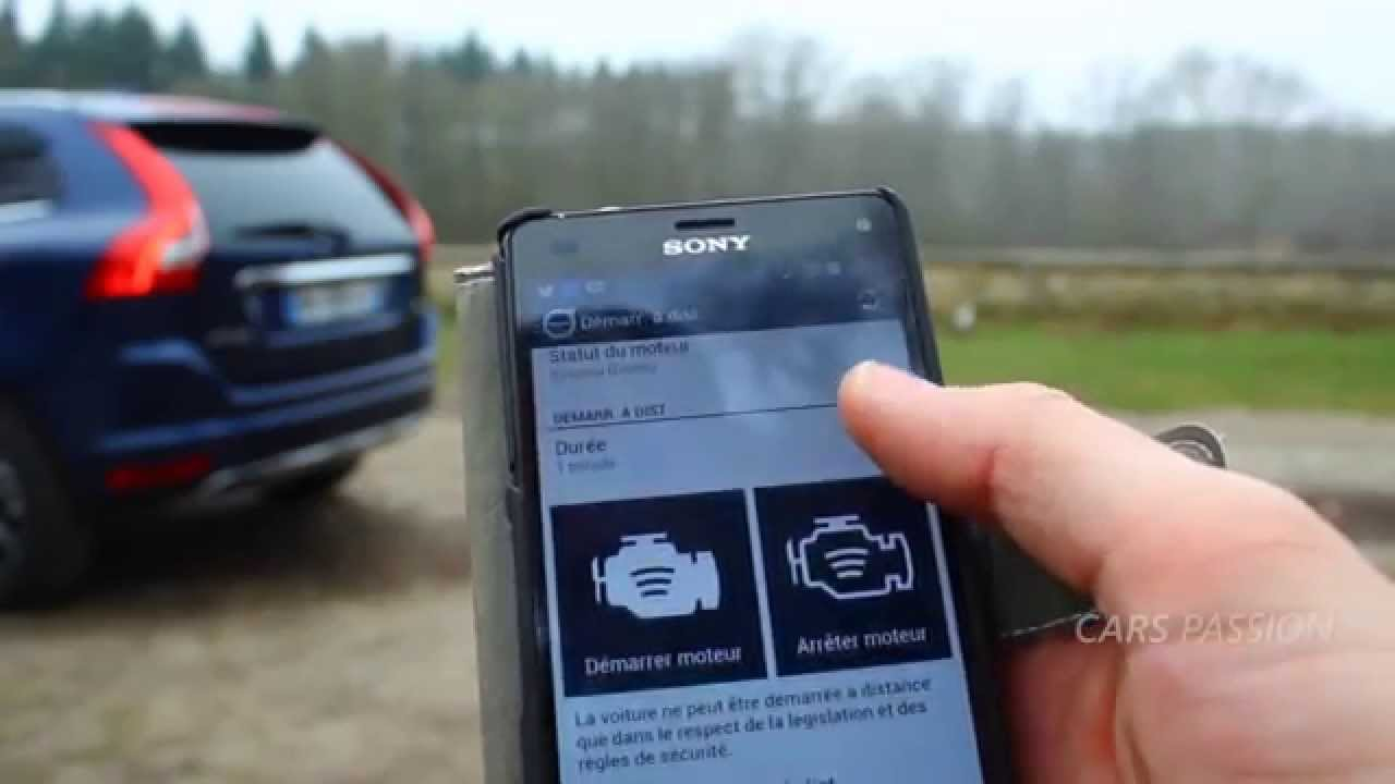 Appli Volvo on Call - demo mobile Volvo XC60 2015 - YouTube