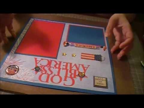 Cricut Military Scrapbook Layouts Youtube