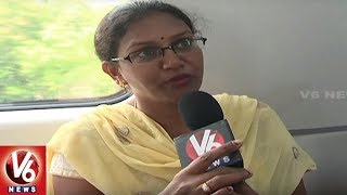 Hyderabad People Shows Interest To Travel In Metro Train | V6 News