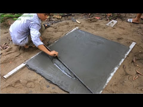 Surprised With The Idea Of Making Concrete Doors - Designing Doors With Sand And Cement