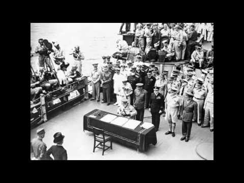 LIVE RADIO BROADCAST: Japan Surrender USS Missouri September 2, 1945