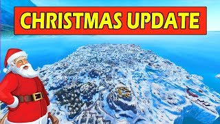 NEW MAP CHANGES *CHRISTMAS* FORTNITE SNOW UPDATE (ENTIRE MAP COVERED IN SNOW) SECRET MAP CHANGES